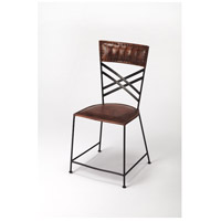 Industrial Chic Hackney  Brown Leather Accent Chair