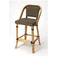 Designer'S Edge Lila Dark Brown Rattan 41 inch Chocolate Rattan Barstool