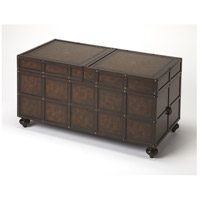 Dennard Faux Leather 36 X 20 inch Heritage Cocktail Table