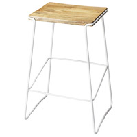Butler Loft Parrish Wood & White Metal 31 inch arstool