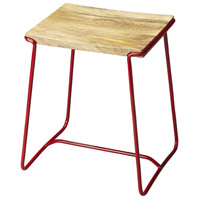 Butler Loft Parrish Wood & Red Metal 22 inch Barstool