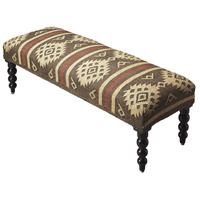 Accent Seating Navajo Jute Taos Bench