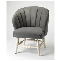 Accent Seating Malcom Gray Velvet White Accent Chair