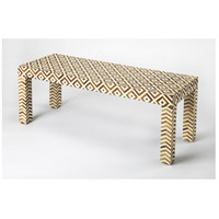 Bone Inlay Crispin  Wood & Bone Inlay Bench