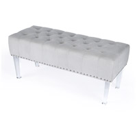 Janelle Cream Velvet Cosmopolitan Accent Chair