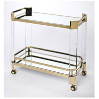 Butler Loft Charlevoix Acrylic & Gold 32 X 16 inch Polished Gold Serving Table