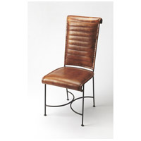 Accent Seating Buxton Iron & Leather Brown Leather Accent Chair