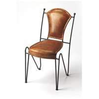 Accent Seating Coriander Iron & Leather Brown Leather Accent Chair