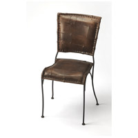Accent Seating Maverick Iron & Leather Brown Leather Accent Chair