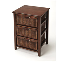 Butler Loft Falmouth Rattan Chocolate Rattan Chairside Chest