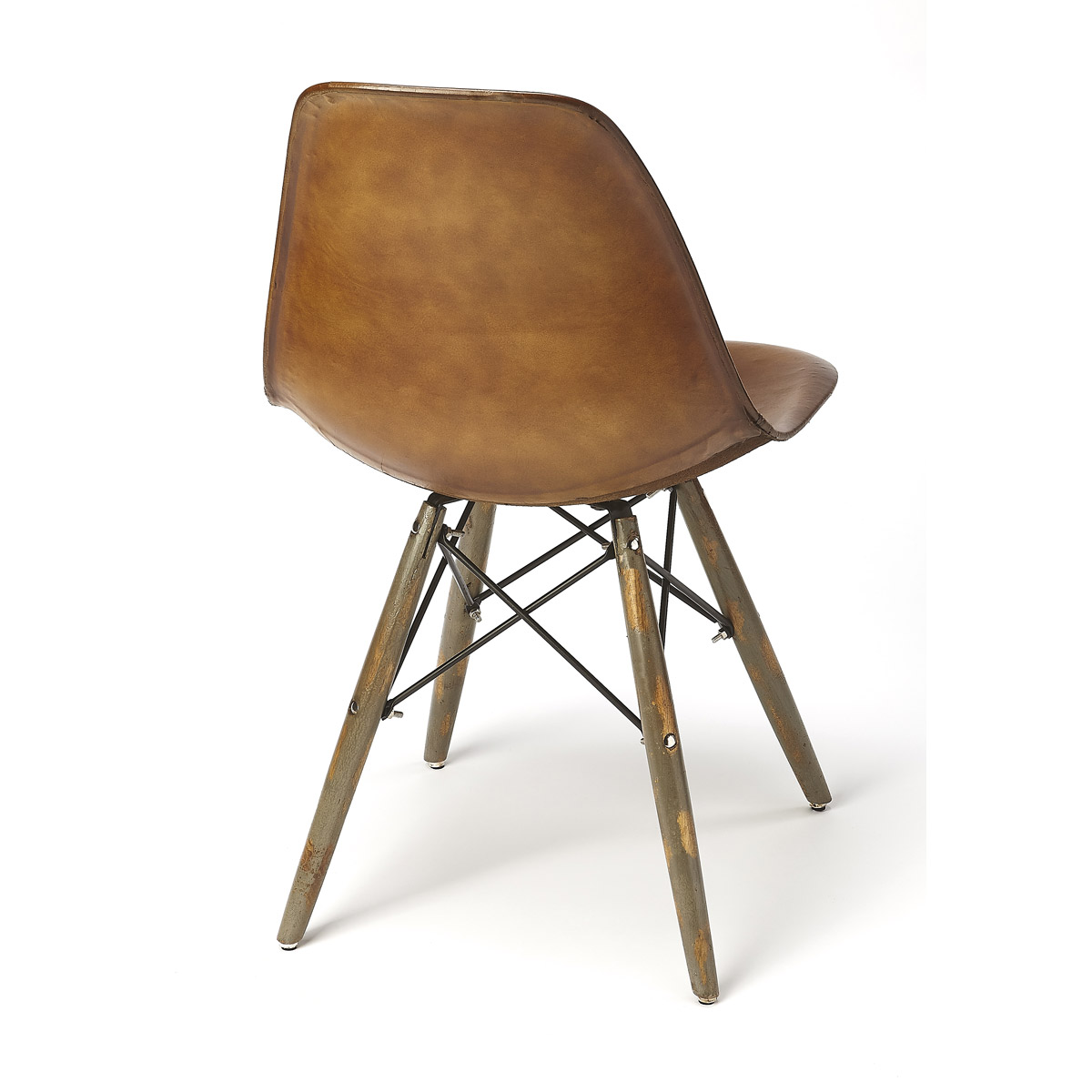 Fine Details About Industrial Chic Saddle 39 Inch Brown Leather Barstool Machost Co Dining Chair Design Ideas Machostcouk
