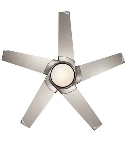 Casablanca stealth 4 blade 54 inch ceiling fan motor and light in casablanca stealth 4 blade 54 inch ceiling fan motor and light in brushed nickel blades aloadofball Images