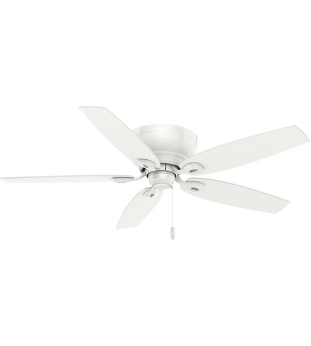 Casablanca 54103 Durant 54 inch Snow White with Matte Snow White Blades Indoor Ceiling Fan photo thumbnail