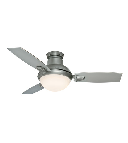 Casablanca 59155 Verse 44 inch Satin Nickel with Platinum/Black Mahogany Blades Ceiling Fan photo thumbnail