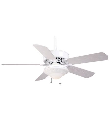 Casablanca Factory Refurbished Panama Damp XLP Ceiling Fan - Motor only in Snow White (blades sold separately) 66D11G photo