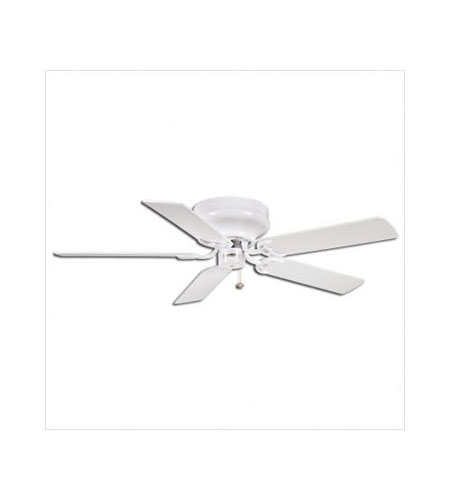 Casablanca Four Seasons III Hugger 5 Blade 42 inch Celing Fan with Blades in Snow White with Snow White & Bleached Oak Blades 72U11D photo