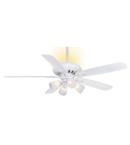 Casablanca Holliston 6 Light Indoor Ceiling Fan In Snow