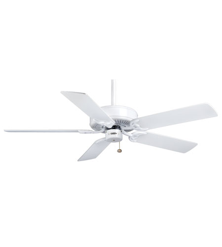 Casablanca Factory Refurbished Four Seasons III Ceiling Fan - Unipack in Snow White with Snow White/Bleached Oak Blades 84U11D photo