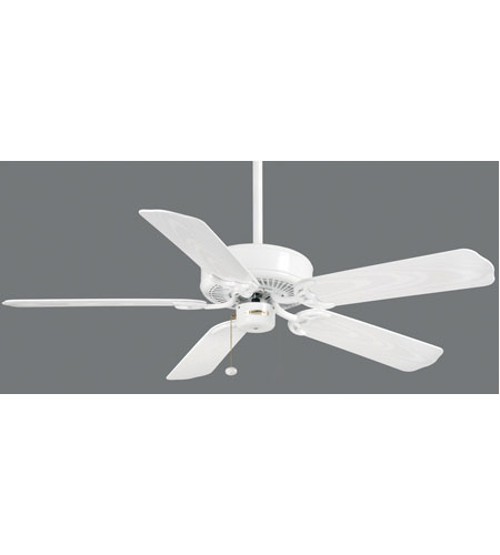 Casablanca Four Seasons III Outsider 5 Blade 52 inch Celing Fan with Blades in Snow White with Snow White ABS Blades 83U11D photo