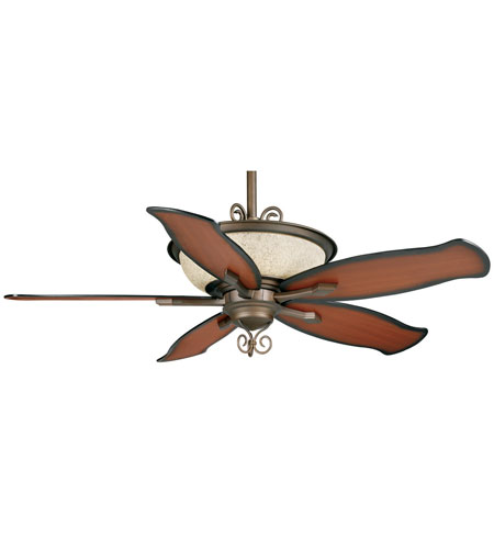 Casablanca Factory Refurbished Siena 6 Light Ceiling Fan - Gallery Edition in Oil-Rubbed Bronze with Burnt Relic/Burnt Cherry Blades P5G73M photo