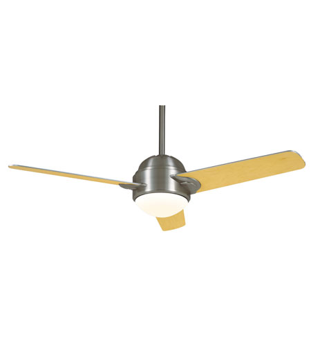 Casablanca Trident 1 Light Indoor Ceiling Fan in Brushed Nickel TRIH-45 photo