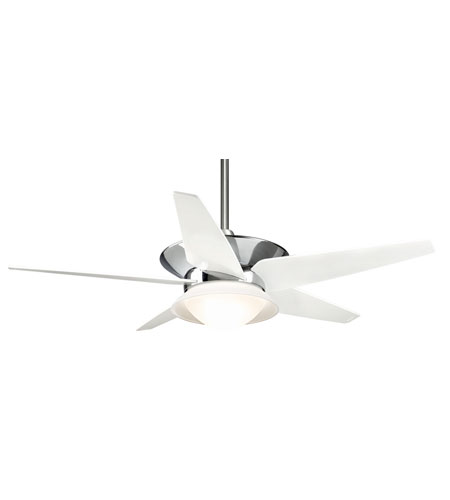 Casablanca Factory Refurbished Vita 8 Light Ceiling Fan - Gallery Edition in Chrome with Matte Snow White Blades C17G199A photo