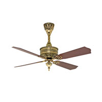 Casablanca 19th Century 4 Blade 54 inch Celing Fan with Blades in Burnished Brass with Mahogany Blades 99U69Z