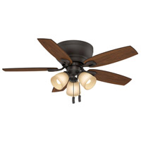 Durant 44 inch Maiden Bronze with Walnut/ Smoked Walnut Blades Indoor Ceiling Fan
