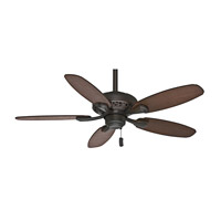 Fordham 44 inch Brushed Cocoa with Dark Walnut/ Distressed Walnut Blades Indoor Ceiling Fan