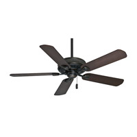 Casablanca Ainsworth 5 Blade 54 inch Celing Fan with Blades in Basque Black with Smoked Walnut & Espresso Blades 54002