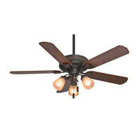 Casablanca Ainsworth 5 Blade 54 inch Gallery Edition Ceiling Fan Unipack in Onyx Bengal with Distressed Walnut & Dark Walnut Blades 54006
