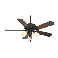 Casablanca Ainsworth 5 Blade 54 inch Gallery Edition Ceiling Fan Unipack in Basque Black with Smoked Walnut & Espresso Blades 54007