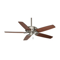 Casablanca Concentra 5 Blade 54 inch Celing Fan with Blades in Brushed Nickel with Walnut & Burnt Walnut Blades 54021
