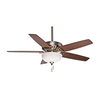 Casablanca Concentra Gallery 5 Blade 54 inch Gallery Edition Ceiling Fan Unipack in Brushed Nickel with Walnut & Burnt Walnut Blades 54023