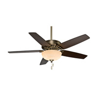 Casablanca Concentra Gallery 5 Blade 54 inch Gallery Edition Ceiling Fan Unipack in Antique Brass with Smoked Walnut & Clove Blades 54025