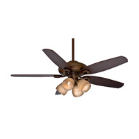 Casablanca Capistrano Gallery 5 Blade 54 inch Gallery Edition Ceiling Fan Unipack in Acadia with Smoked Walnut & Dark Walnut Blades 54031