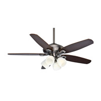 Casablanca Capistrano Gallery 5 Blade 54 inch Gallery Edition Ceiling Fan Unipack in Antique Pewter with Smoked Walnut & Medium Chestnut Blades 54032