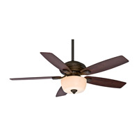 Casablanca Utopian Gallery 5 Blade 52 inch Gallery Edition Ceiling Fan Unipack in Aged Bronze with Black Mahogany Blades 54040