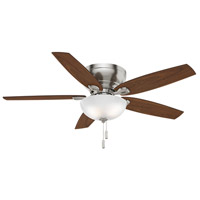 Durant 54 inch Brushed Nickel with Walnut/ Burnt Walnut Blades Indoor Ceiling Fan