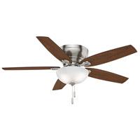 Casablanca 54101 Durant 54 inch Brushed Nickel with Walnut/ Burnt Walnut Blades Indoor Ceiling Fan