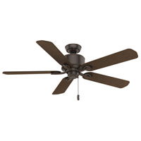 Compass Point 54 inch Onyx Bengal with Reversible P.A. Cocoa Plastic Blades Outdoor Ceiling Fan
