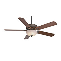 Casablanca Ainsworth 5 Blade 60 inch Ceiling Fan Unipack in Onyx Bengal with Distressed Walnut & Dark Walnut Blades 55006