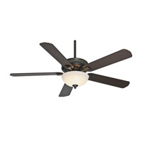 Casablanca Ainsworth 5 Blade 60 inch Ceiling Fan Unipack in Basque Black with Smoked Walnut & Espresso Blades 55007