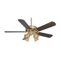 Casablanca Panama 4 Light Indoor Ceiling Fan in Bright Brass 55061