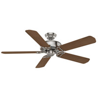 Panama 54 inch Brushed Nickel with Reversible Eastern Walnut/River Timber Veneer Blades Ceiling Fan