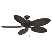 Casablanca 55073 Charthouse 54 inch Onyx Bengal with Reversible Curacao Plastic Plastic Blades Outdoor Ceiling Fan