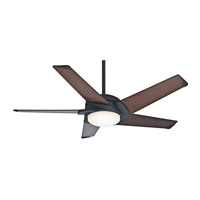 Casablanca 59107 Stealth 54 inch Maiden Bronze with Dark Walnut Blades Indoor Ceiling Fan