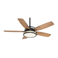 Casablanca 59113 Caneel Bay 56 inch Aged Steel with White Washed  Distressed Oak Blades Ceiling Fan
