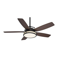 Caneel Bay 56 inch Maiden Bronze with Smoked Walnut Blades Ceiling Fan