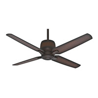 Aris 54 inch Brushed Cocoa with Burnished Mahogany / Burnished Mahogany Blades Ceiling Fan